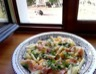 Salade de pâtes au melon et jambon cru