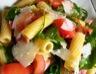 Salade de pâtes tomate roquette jambon parmesan