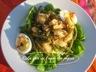 Salade de pommes de terre aux oeufs et haricots verts et sa vinaigrette aux tomates séchées