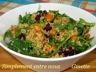 Salade de quinoa, pois chiches croustillants et courge musquée