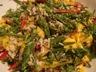 Salade de riz sauvage aux asperges vertes et à la mangue