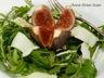 Salade de roquette à la figue et au fromage de brebis