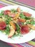 Salade de roquette aux peches roties (Weight Watcher)
