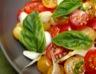 Salade de tomates cerises aux oignons frais