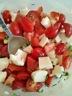 Salade de tomates cerises et de fromage en grain