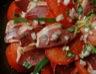 Salade de tomates magret séché et vinaigre basalmique