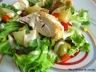 Salade estivale au poulet, pomme de terre et poivron
