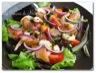 Salade folle saumon-crevettes, vinaigrette à l'orange