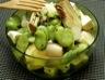 Salade tiède de fèves artichaut et feta