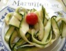 Salades de courgettes crues à la provençale
