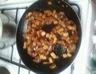 Sauté de porc aux abricots secs et au miel