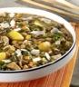 Potages et soupes: Soupe épaisse de légumes aux champignons des bois