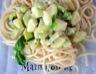 Spaghetti à l'ail et aux courgettes