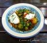 Tajine aux poivrons / olives farcies / pommes de terre et cabillaud