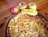 Tarte à la rhubarbe aux pommes et aux amandes