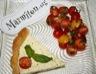 Tarte au fromage blanc salade de tomates cerises