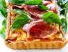 Tarte au fromage jambon cru et tomates