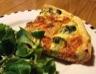 Tarte aux brocolis au saumon fumé et à la ricotta