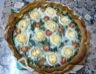 Tarte aux épinards au chèvre aux tomates et aux noix