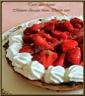 Tarte aux fraises, mousse au chocolat blanc citron vert, pâte sablée noisette