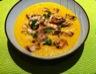 Velouté carottes-coco-coriandre au poulet