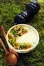 Velouté de panais, pommes de terre et cèpes