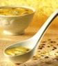 Potages et soupes: Velouté de poulet aux amandes et crème d'asperge