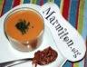Velouté express de tomates et croustillant de lard
