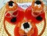 Verrines au saumon fumé à la crème de concombre