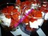 Verrines poivrons chevre