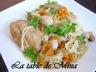 Wok de poulet et nouilles chinoises