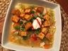 Chaudrée de maïs, pommes de terre et tofu fumé