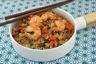 Riz sauté aux légumes et crevettes à la sauce aigre-douce