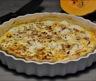 Tarte butternut lardons et chèvre frais