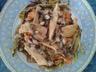 Aiguillettes de poulet au nid de légumes