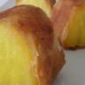Ananas rôti en croûte croustillante accompagné d'une crème au citron vert