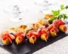 Antipasti aux olives vertes fonds d'artichaut et salami