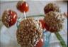 Apéro frais et léger : raisins au chèvre et tomates cerises caramélisées sésame