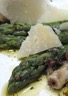 Asperges rôties au parmesan et foie de lotte