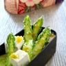 Asperges vertes et tofu en vinaigrette de thé