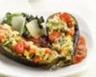 Aubergines cuites au four farcies de légumes grillés et gratinées de Comté
