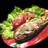 Aubergines farcies: boeuf cannelle et mozzarella !