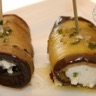 Aubergines marinées à l'huile d'olive farcies à la ricotta et au basilic