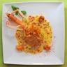 Aumônières de langoustines sur fondue de poireaux beurre blanc au basilic et piment d'Espelette