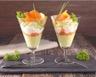 Avocat saumon fumé et fromage frais en verrines