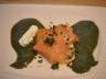 Baluchons de saumon fumé au coulis de cerfeuil