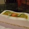 Bavarois citron vert / noix de coco / fruits exotiques