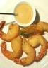 Beignets de gambas & sauce à l'estragon