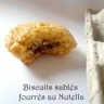 Biscuits sablés fourrés au Nutella