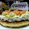 Blinis au St Morêt et saumon fumé